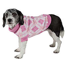 Pet Life Argyle Ribbed Sweater