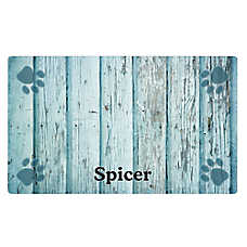 Drymate Distressed Wood & Paw Personalized Placemat