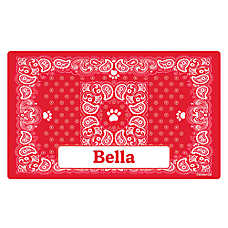 Drymate Paisley Bandana Personalized Cat Litter Mat