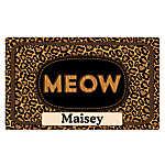 "Drymate ""Meow"" Personalized Cat Litter Mat"