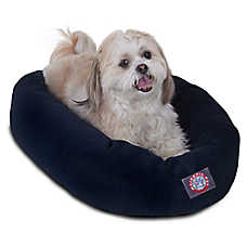 Majestic Pet Villa Micro-Velvet Bagel Pet Bed