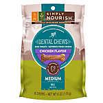 Simply Nourish™ Natural Chicken Regular Dental Chew Dog Treat