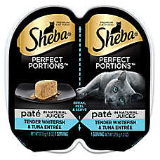 Sheba® Perfect Portions Whitefish & Tuna Pate Cat Food