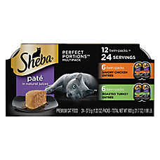 Sheba® Perfect Portions Chicken & Turkey Multipack Pate Cat Food