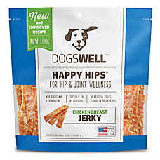 DOGSWELL® HAPPY HIPS® Dog Treat - Hip & Joint Health, Chicken Breast Jerky