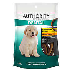Authority® Dental Puppy Teething Rings Dog Treat
