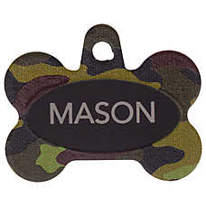 TagWorks® Camo Bone Personalized Pet ID Tag