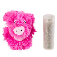 KONG® Botanicals Piglet Cat Toy - Valerian Mint Infused Catnip