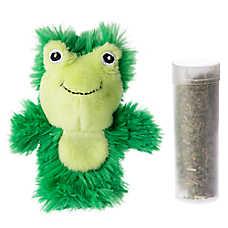 KONG® Botanicals Frog Cat Toy - Lemongrass Infused Catnip