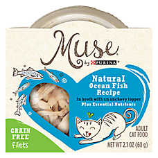 Muse® Adult Cat Food - Grain Free, Natural, Ocean Whitefish & Anchovy Topper