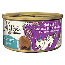 Muse® Adult Cat Food - Grain Free, Essential Nutrients, Natural Salmon & Shrimp