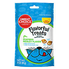 Grreat Choice® Flavorful Treats Seafood Medley Cat Treat