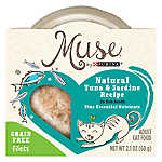 Muse® Adult Cat Food - Grain Free, Essential Nutrients, Natural Tuna & Sardine, In Broth