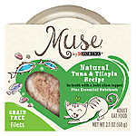 Muse® Adult Cat Food - Grain Free, Essential Nutrients, Natural Tuna &Tilapia with Baby Clam Topper