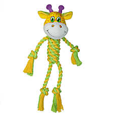 "Toys""R""Us® Pets Giraffe or Elephant Rope Dog Toy - Squeaker (CHARACTER VARIES)"