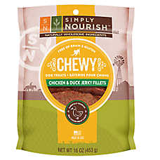 Simply Nourish™ Grain Free Gluten Free Chewy Duck Jerky Fillets Dog Treat