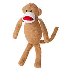 Top Paw™ Monkey Dog Toy - Plush, Squeaker