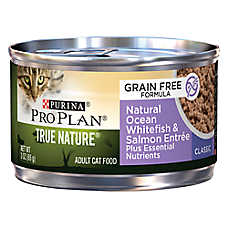 Purina® Pro Plan® TRUE NATURE™ Adult Cat Food - Grain Free, Natural, Ocean Whitefish & Salmon