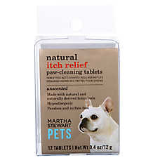 Martha Stewart Pets® Unscented Itche Relief Paw Cleaning Tablets