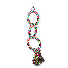 Grreat Choice® Rope 3 Ring Ladder Bird Toy