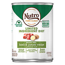 NUTRO™ Limited Ingredient Diet Adult Dog Food - Natural, Grain Free, Lamb & Potato
