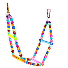 Grreat Choice® Beaded Ladder Long Bird Toy