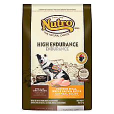 NUTRO® Chicken Meal, Brown Rice & Oatmeal High Endurance Dog Food