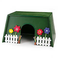 National Geographic™Garden Wooden Hideout Small Animal