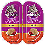 WHISKAS® Perfect Portions Beef Pate Cat Food