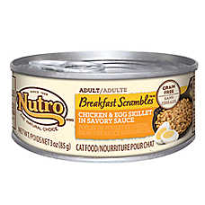 NUTRO® Breakfast Scrambles Grain Free Chicken & Egg Skillet Adult Cat Food
