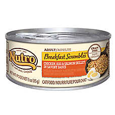 NUTRO® Breakfast Scrambles Grain Free Chicken, Egg & Salmon Skillet Cat Food