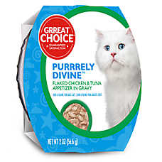 Grreat Choice® Purrrely Divine Chicken & Tuna Flaked Cat Food