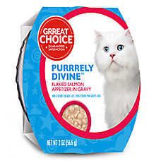 Grreat Choice® Purrrely Divine Salmon Flaked Cat Food