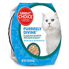 Grreat Choice® Purrrely Divine Fish & Shrimp Flaked Cat Food