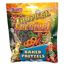 Tropical Carnival Baked Pretzel Bird Treat