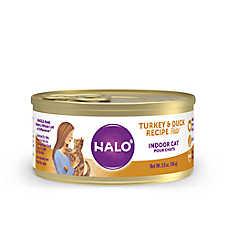 HALO® Indoor Cat Food - Natural, Grain Free, Turkey & Duck Recipe Pate