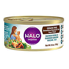 HALO® Impulse Sensitive Stomach Cat Food - Natural, Grain Free, Guinea Fowl & Garden Greens Pate