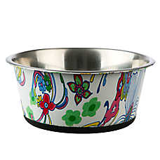 Top Paw® Floral Watermark Dog Bowl