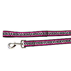 Material Girl Pets Roxy Zebra Dog Leash
