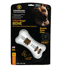 Starmark Treat Ringer Bone Dog Toy