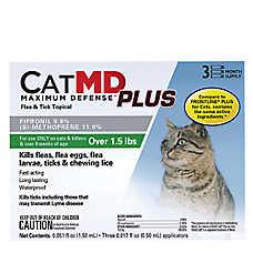 Cat MD Plus Maximun Defense Flea & Tick Topical (Compare to FRONTLINE® Plus)