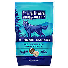 Natural Balance Wild Pursuit Dog Food - High Protein, Grain Free, Trout, Salmon Meal & Tuna