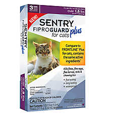 SENTRY® Fiproguard® Plus Over 1.5 Lb Cat Flea & Tick Treatment (Compare to FRONTLINE® Plus)