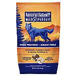 Natural Balance Wild Pursuit Dog Food - High Protein, Grain Free, Chicken, Turkey Meal & Quail