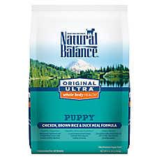 Natural Balance Original Ultra Whole Body Health Puppy Food- Gluten Free, Chicken, Brown Rice & Duck
