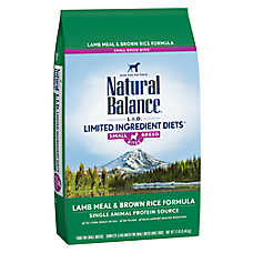 Natural Balance Limited Ingredient Diets Dog Food - Lamb Meal & Brown Rice, Small Breed