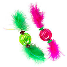 Grreat Choice™ 2-Pack Feather Ball Cat Toy