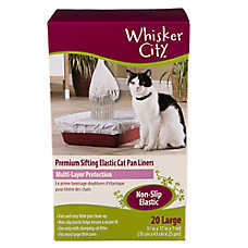 Whisker City® Large Non-Slip Elastic Sifting Cat Pan Liner