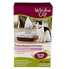 Whisker City® X-Large Non-Slip Elastic Sifting Cat Pan Liner