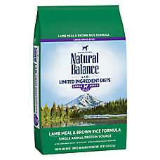 Natural Balance Limited Ingredient Diets Dog Food - Lamb Meal & Brown Rice, Large Breed
